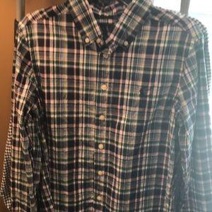 Youth boys med 10-12 Ralph Lauren plaid shirt
